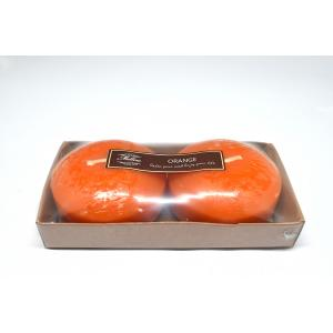 เทียนหอมลอยน้ำแบบใหญ่ [Jumbo Floating Candle] กลิ่นส้ม(ORANGE) 2 ชิ้น ต่อแพ็ค