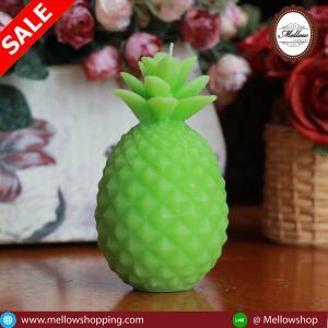 เทียนหอมสับปะรด สีเขียว