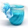 เทียนหอมในแก้ว สีฟ้า กลิ่น ทะเล [OCEAN]
