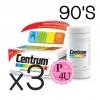 (ซื้อ3 ราคาพิเศษ) CENTRUM สูตรใหม่ 90 เม็ด เพิ่ม LUTEIN Betacarotene บำรุงสายตา บำรุงร่างกาย และระบบประสาท