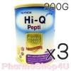 (ซื้อ3 ราคาพิเศษ) (แพ้นมวัว) HI-Q ไฮคิว เปปติ นมผงสำหรับทารกแรกเกิดถึง 1 ปี 900 กรัม โปรตีนเวย์ ที่ย่อยสลายให้เป็นโปรตีนขนาดเล็ก สามารถใช้ดื่มแทนนมวัวและใช้ปรุง
