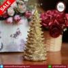 เทียนต้นสนคริสมาสไม่มีฐานไร้กลิ่น 19 cm สีทอง