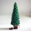 เทียนต้นสนคริสมาสมีฐานไร้กลิ่น แบบ C: [21 cm / 346 g]