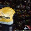 หมวกกันน็อคคลาสสิก 5เป๊ก (มีแว่น) สี MotorOil/Gold