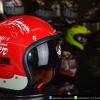 หมวกกันน็อคคลาสสิก 5เป๊ก (มีแว่น) สี MotorOil/Red