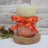 เทียนหอมตกแต่งบ้าน เทียนหอมสีส้มสลับขาว เทียนแฟนซี ขนาด 3x4 นิ้ว [กลิ่นส้ม]