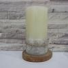 เทียนหอมแฟนซี เทียนหอม เทียนหอมตแต่งบ้าน 3 x 6 Ivory Pillar Candle with Sea Shell