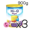 (ซื้อ3 ราคาพิเศษ) (แพ้นมวัว) HI-Q Pepti 900g ไฮคิว เปปติ นมผงสำหรับทารกแรกเกิดถึง 1ปี โปรตีนเวย์ ที่ย่อยสลายให้เป็นโปรตีนขนาดเล็ก สามารถใช้ดื่มแทนนมวัวและใช้ปรุง