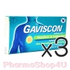 (ซื้อ3 ราคาพิเศษ) Gaviscon กาวิสคอน กล่อง 16 เม็ด ลดอาการแสบกลางอก เนื่องจาก กรดไหลย้อน