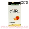 Nature's Bounty Vitamin C-1000 Rose Hips 100 เม็ด เนเจอร์ เบาว์ตี้ ไวตามินซี โรสฮิป วิตามินซีจาก ธรรมชาติ ไม่กัดกระเพาะ ให้วิตามินซีสูง