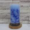 3 x 6 เทียนแท่งลายปาการังสีน่ำเงินเข้ม (Dark Blue Coral Pillar Candle)