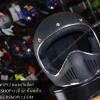 หมวกกันน็อคคลาสสิก MOTO3 สีดำด้าน