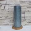 เทียนหอม เทียนแฟนซี 3 x 6 เทียนลายเมทัลลิกสีฟ้า [Blue Metallic Groove Pillar Candle]