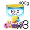 (ซื้อ3 ราคาพิเศษ) (แพ้นมวัว) HI-Q Pepti 400g ไฮคิว เปปติ นมผงสำหรับทารกแรกเกิดถึง 1ปี โปรตีนเวย์ ที่ย่อยสลายให้เป็นโปรตีนขนาดเล็ก สามารถใช้ดื่มแทนนมวัวและใช้ปรุง