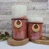 เทียนหอม เทียนแฟนซี ชุดเทียนแท่งฤดูใบไม้ร่วง Fall Collection: 2 Tone Mottled layer Fall Pillar Candle