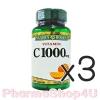 (ซื้อ3 ราคาพิเศษ) Nature's Bounty Vitamin C1000 mg 100 เม็ด เนเจอร์เบาวน์ตี้ วิตามินซี ไม่ระคายเคืองกระเพาะอาหาร ป้องกันโรคหวัด เสริมสร้างภูมิต้านทาน บำรุงคอลลาเจนในผิวคุณ