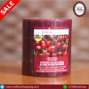 เทียนแท่งขาว กลิ่น เชอรี่ Black Cherry ขนาด 2.5 * 2.8 นิ้ว