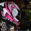 หมวกกันน็อคRider Hurricane สี Rays Pink