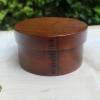 Small Boiled-Rice Lacquered bending magewappa bento box - กล่องข้าวญี่ปุ่นทรงกลมเล็ก สีไม้คลาสสิค 1 ชั้น