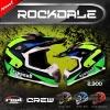 หมวกกันน็อคReal วิบาก รุ่น Rockdale Crew สี Black Red Fluo