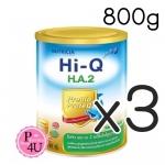 (ซื้อ3 ราคาพิเศษ) Dumex Hi-Q H.A 2 ไฮคิว เอช เอ 2 พรีไบโอโพรเทก 800กรัม นมผงสูตรสำหรับ 6เดือน-3ปี ที่มีความเสี่ยงต่อภูมิแพ้ และแพ้โปรตีนนมวัว