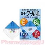 (สีฟ้า) Rohto Cool Vita 40 Alpha Eyedrops 12mL น้ำตาเทียม โรโตะ สูตรเย็นระดับ5 ผสมวิตามินE, B6, Na บำรุงตาที่อ่อนล้าให้สะอาดชุ่มชื่น เย็นชื่นใจ