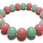 พิงค์โอปอล์+อมาโซไนต์ 8 มม./Pink Opal+Amazonite 8 mm.