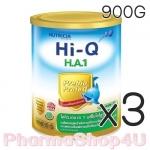(ซื้อ3 ราคาพิเศษ) Dumex Hi-Q H.A 1 ไฮคิว เอช เอ 1 พรีไบโอโพรเทก 900 กรัม นมผงสูตรสำหรับทารกที่มีความเสี่ยงต่อภูมิแพ้ และแพ้โปรตีนนมวัว