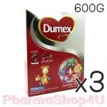 (ซื้อ3 ราคาพิเศษ) DUMEX ดูเม็กซ์ นมผง ดูโปร 600 กรัม สูตร2 มีดีเอชเอและเออาร์เอ มีวิตามินเอ ช่วยในการมองเห็น มีใยอาหาร