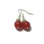 ต่างหูหินนำโชค ทับทิม Ruby Earring