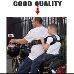 เข็มขัดรัดหรือสายรัดเด็ก กันตกรถจักรยานยนต์ (Bigbike) Morto Belt