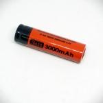 3.7V 18650 Rechargeable Li-ion Battery 3000mAh