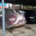 ถุงพลาสติก ห่อรถ กันน้ำท่วม ขนาด XL
