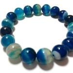 อาเกตสีฟ้า 10 มม./Blue Agate 10 mm.