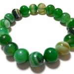 อาเกตสีเขียว 10 มม./Green Agate 10 mm.