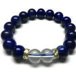 ลาพิซ ลาซูลี+เคลียร์ ควอตซ์ 10 มม./Lapis Lazuli+Clear Quartz 10 mm.