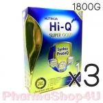 (ซื้อ3 ราคาพิเศษ) สูตร1 นมผง Hi-Q Super Gold แรกเกิด-1ปี 1800 กรัม ไฮคิว ซูเปอร์โกลด์ ซินไบโอโพรเทก Synbio ProteQ มี GOS/LcFOS, DHA ARA