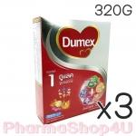 (ซื้อ3 ราคาพิเศษ) DUMEX ดูเม็กซ์ นมผง ดูแลค 320 กรัม มีดีเอชเอและเออาร์เอ มีวิตามินเอ ช่วยในการมองเห็น มีใยอาหาร