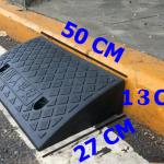 ทางลาดพลาสติกสำเร็จรูป สูง 13 cm/ ลึก 27cm / กว้าง 50cm รับน้ำหนักรถยนต์ได้ 2 ตัน
