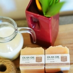 สบู่น้ำมันมะพร้าวสกัดเย็น - นมแพะ/ Pure Coconut Oil Soap