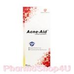 (สีแดง) Acne Aid Liquid Cleanser 100mL แอคเน่ เอด สบู่เหลวล้างหน้า สำหรับผิวมัน ผิวผสม และผิวที่มีแนวโน้มเป็นสิวง่าย