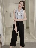 ชุดเซ็ทเสื้อ-กางเกงขายาวสีดำ