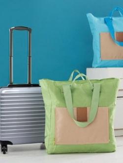 กระเป๋าสะพายแบบพับได้ แบบกันน้ำ