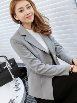 เสื้อสูททำงานผู้หญิงสีเทา