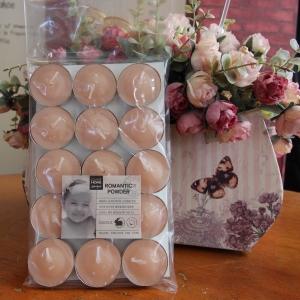 เทียนหอมทีไลท์ [Tealight Candle] กลิ่น Romantic Powder 15 ชิ้น ต่อแพ็ค