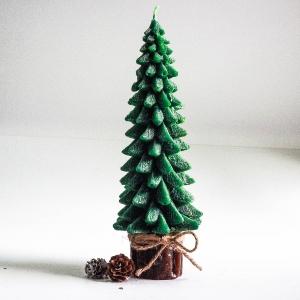 เทียนต้นสนคริสมาสมีฐานไร้กลิ่น แบบ B: [ 16 cm / 344 g]