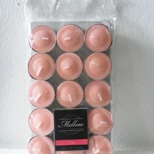 เทียนหอมทีไลท์ [Tealight Candle] กลิ่น ดอกกุหลาบ [Tea Rose] 15 ชิ้น ต่อแพ็ค