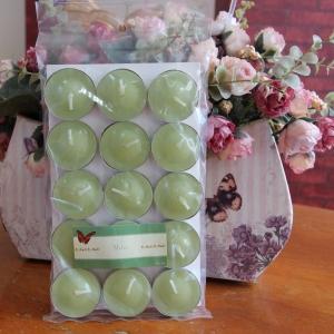 เทียนหอมทีไลท์ [Tealight Candle] กลิ่น เมล่อน [Melon] 15 ชิ้น ต่อแพ็ค