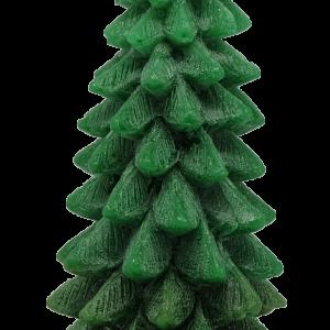 เทียนต้นสนคริสมาสมีฐานไร้กลิ่น แบบ D: [21 cm / 624 g]