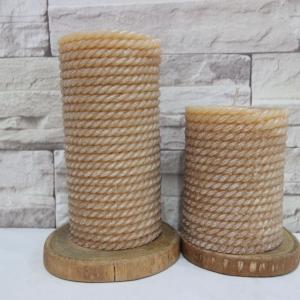 เทียนแฟนซี เทียนแท่งลายเชือก (Rope Texture Pillar Candle)
